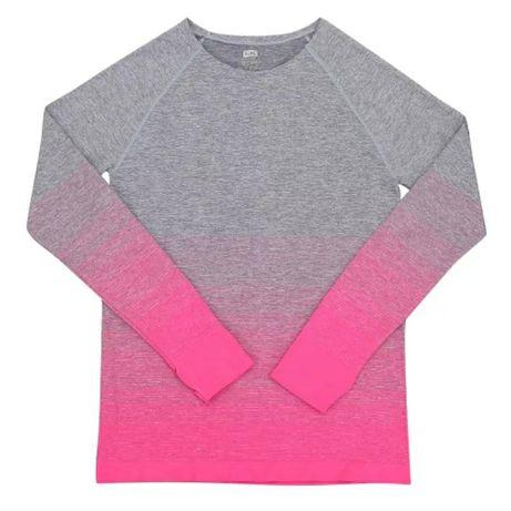 Спортивная кофта для йоги  или бега футболка градиент