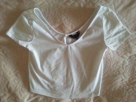 Biała bluzka crop top New Look