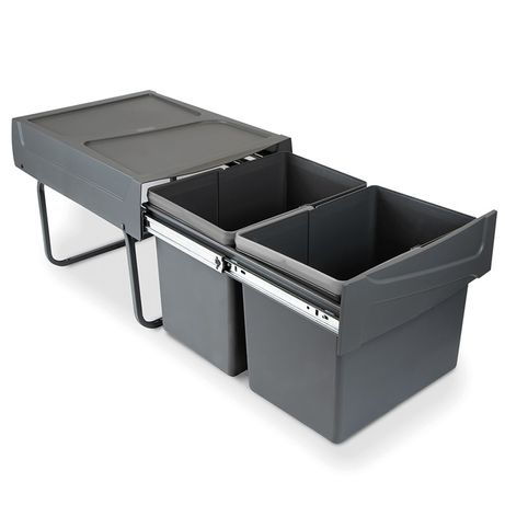 Recipientes para reciclagem para cozinha, 2 x 15 L  Emuca