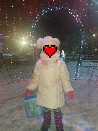 Детское зимнее куртка-пальто