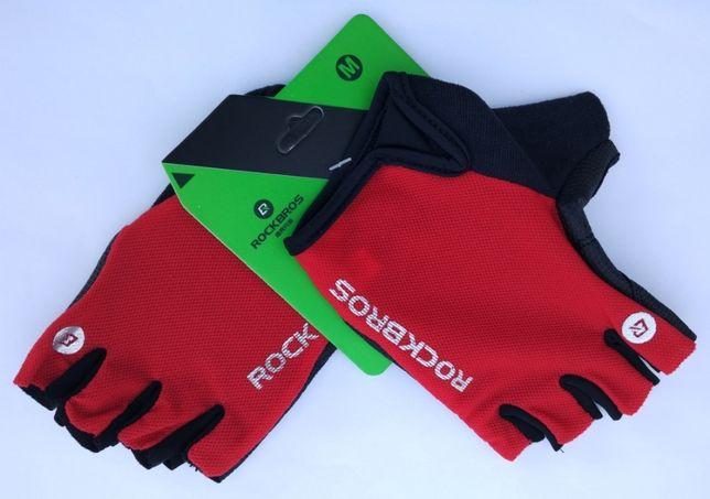 Rękawiczki rower sport fitness RockBros pół-palce M logo uniwersalne