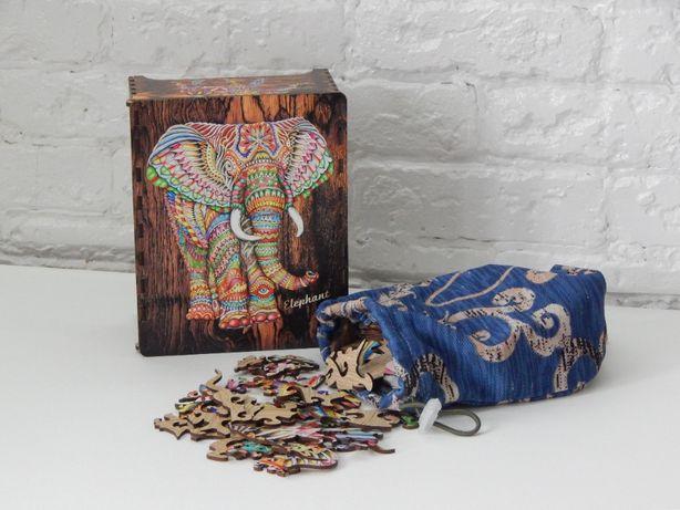 """Пазл деревянный большой """" слон""""/ пазл дерев'яний/ подарунок / подарок"""
