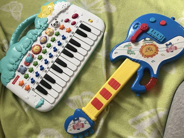 Pianino fisher price i gitara grająca
