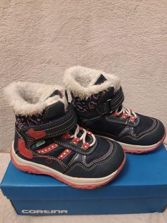 Buty zimowe dla dziewczynki,  wodoodporne i oddychające,  rozmiar 25