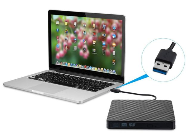 Внешний пишущий USB 3.0 CD/DVD-RW привод DVD 8X/CD 24X сд двд