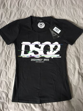 Damska koszulka Dsquared czarna rozm L