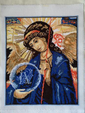 Архангел Михаїл вишивана ікона
