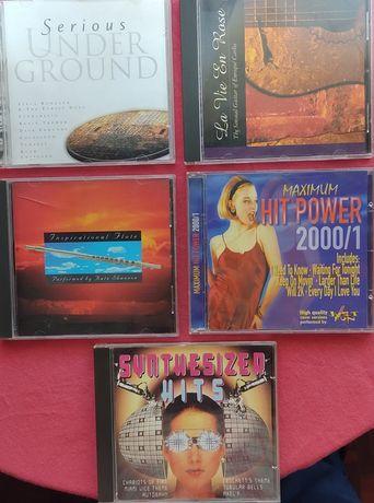 5 cd's - Hit Power, música sintetizadores, flauta