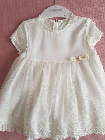 Sukienka Mayoral roz. 80 kremowa