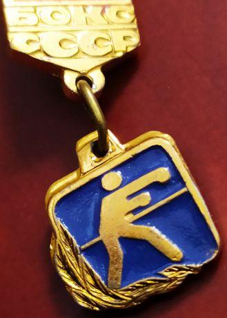 Значок СССР боксерские перчатки Кличко Тайсон Холифилд нокаут ринг KO