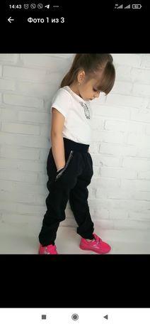 Теплые детские зимние штаны на девочку