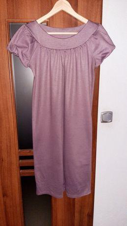 Brudny róż sukienka oversize firmy RYBA, rozmiar 38 /40, prosta
