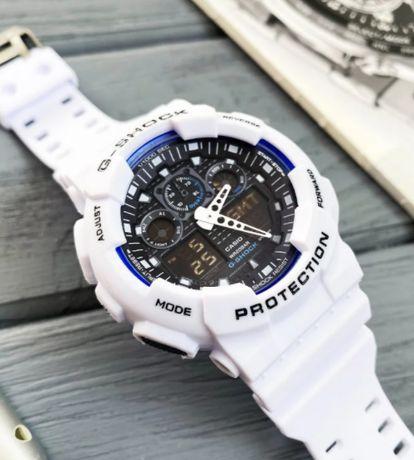Годинник чоловічій спортивний Casio G-Shock GA-100 білий