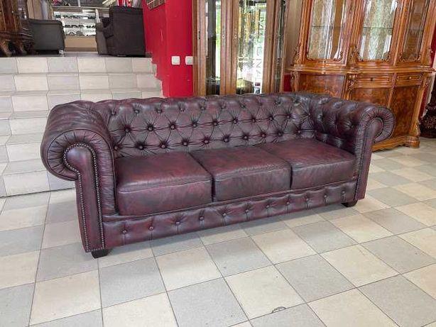 Кожаный диван кожаный комплект Честерфилд шкіряний диван