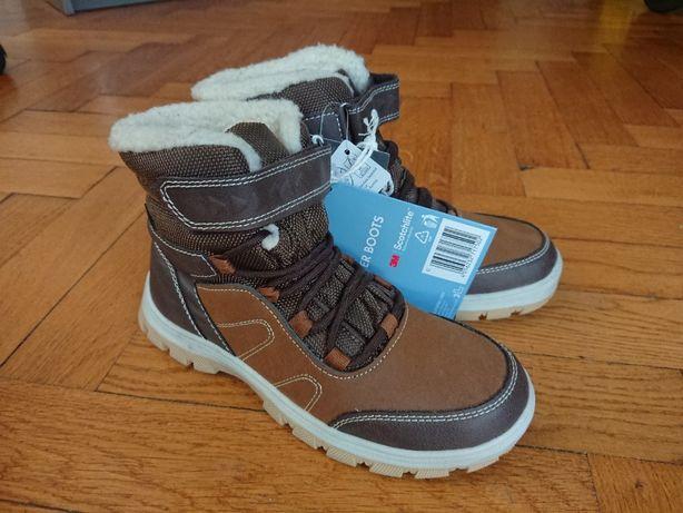 zimowe buty chłopięce rozmiar 35