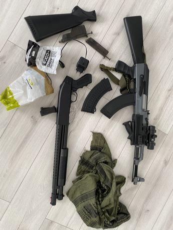 Replika AK-47 (cm-028a) zestaw asg cyma