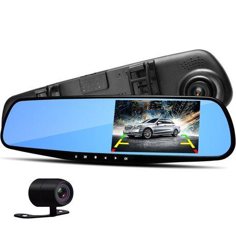 Автомобильное зеркало видеорегистратор для машины на 2 камеры VEHICLE