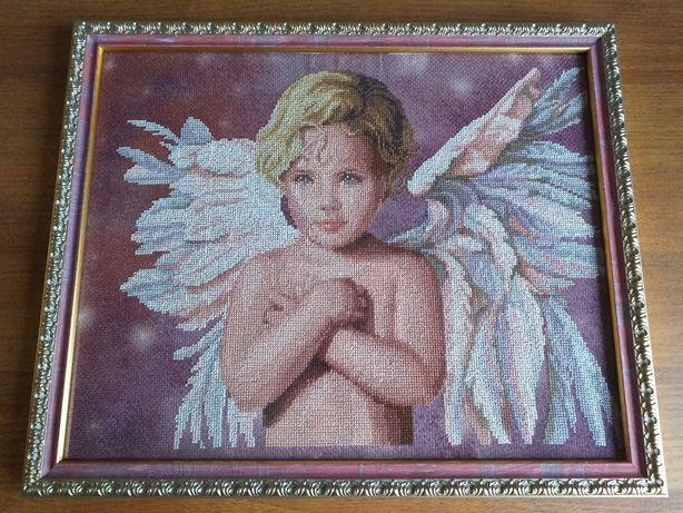 Вышитая картина, Ангелочек