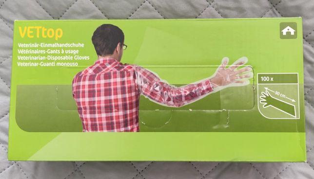 Długie rękawice foliowe weterynaryjne - 100 sztuk