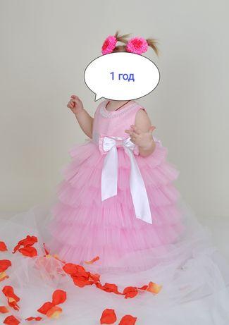 Нарядное пышное платье с фатином