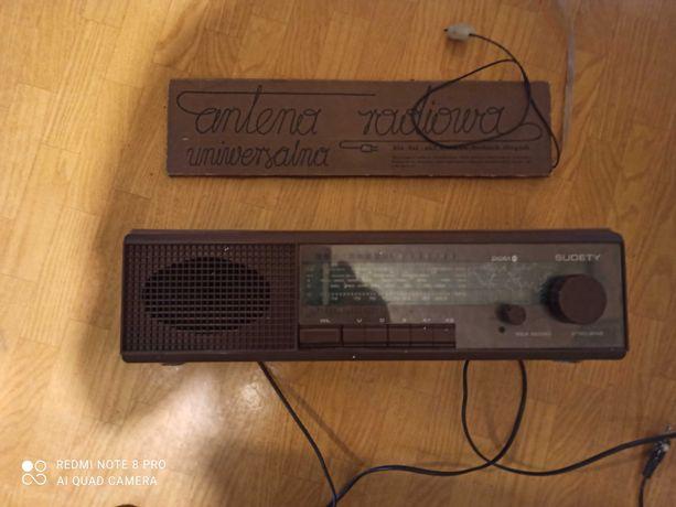 Stare radio Diora Sudety z lat 90 + antena - w pelni sprawne