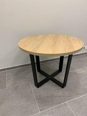Nowoczesny stół do jadalni metalowe nogi styl loft rozkładany