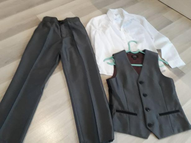 Kamizelka spodnie koszula 134 dla chlopca