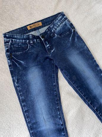 Классные темно синие женские джинсы скини 26р