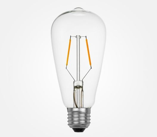 LED Лампа Эдисона ST64 2Вт 2W ретро лампочка декоративная винтажная