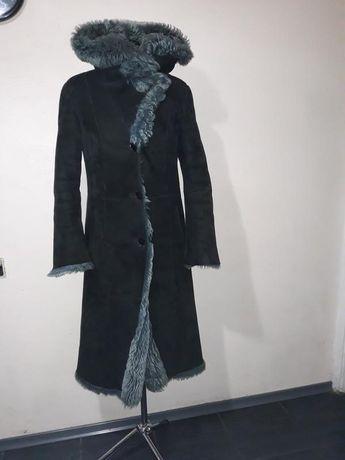 Дубленка длинная р. S, козлик по цене курточки