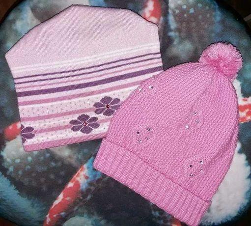 Шапка шапочка демисезонная перчатки в подарок