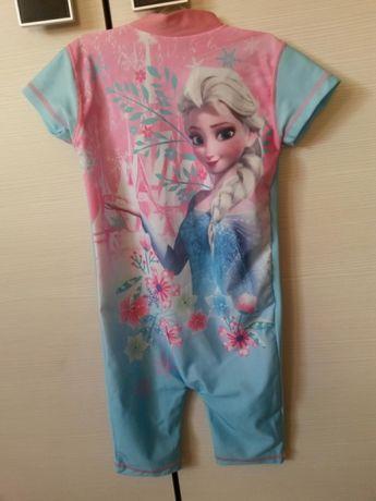 Strój kostium kombinezon kąpielowy Frozen ELSA 12-18