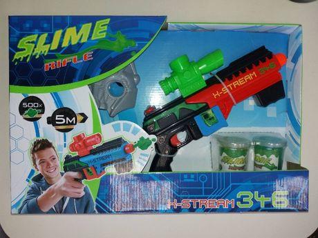 Автомат Бластер CH346 стреляет слизью, слайм 2шт, маска, мишень, в кор