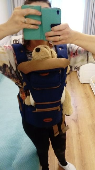 90Nosidło nosidełko + pas biodrowy 3w1. Od 3.5-15kg. Marki ClevaMama