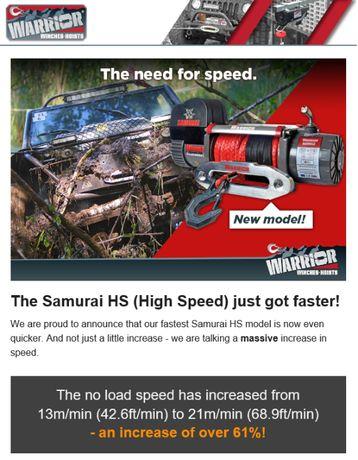 Guincho SAMURAI NEXT GENERATION (Alta velocidade) 9500lbs