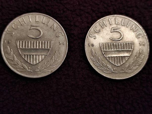 5 шиллингов 1970  и  1976 Австрия