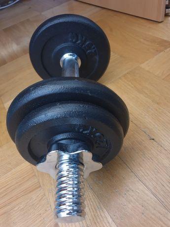 Hantla żeliwna regulowana 10kg gryf hantle hantel siłownia