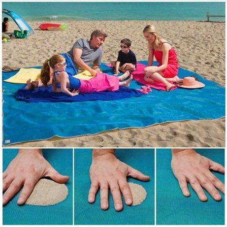 Анти-песок пляжная чудо-подстилка 200*150, коврик