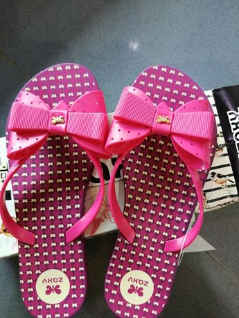 Chinelo zaxy fresh thong pink tam. 35