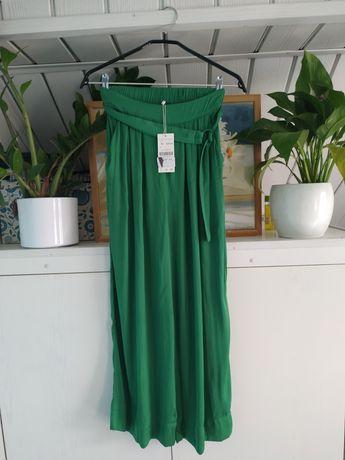 Spodnie satynowe z metką