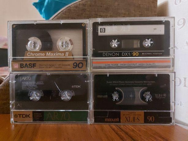 Аудиокассеты MIX,Basf,denon,tdk,maxell.