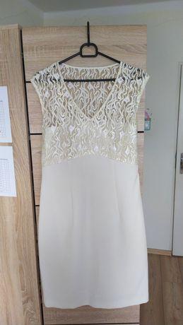Sukienka biała okolicznościowa