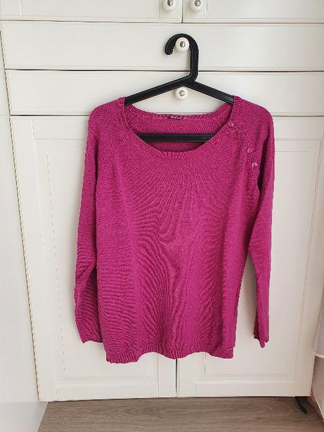 Tom Tailor różowy sweter fuksja różowy L 40