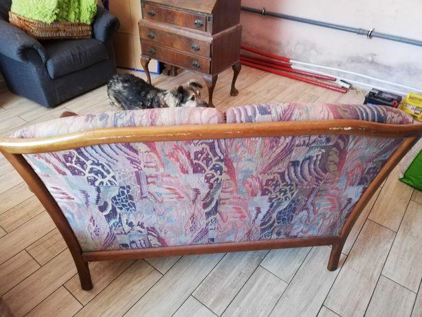 Sofa dwuosobowa drewniany stelaż