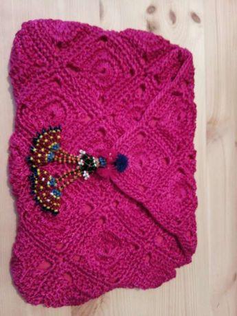 Vendo bolsa / pochete em crochet rosa vintage bazaar nova