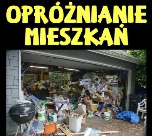 Kompleksowe opróżnianie mieszkań, piwnic, wywóz śmieci, Wolne terminy