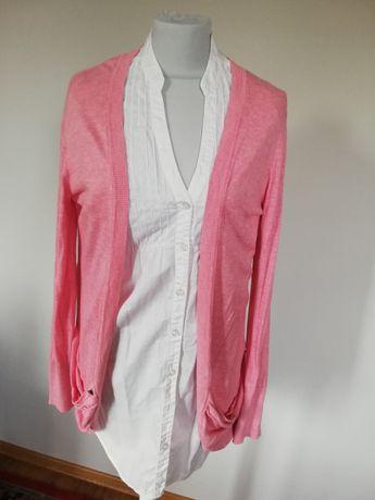Sweter kardigan różowy atmosphere pastelowy rozmiar xl/l