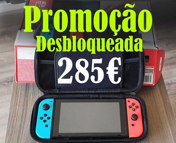 Nintendo Switch como nova desbloqueada