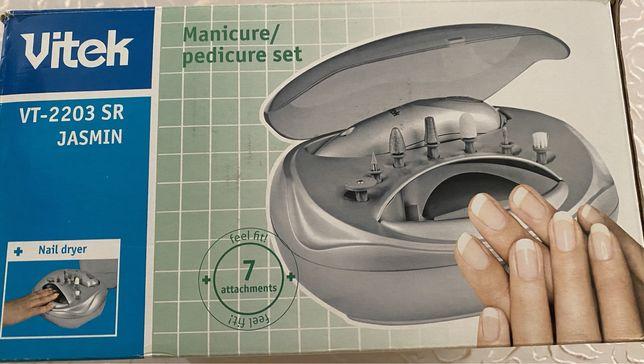 Набор для маникюра и педикюра с сушкой для ногтей
