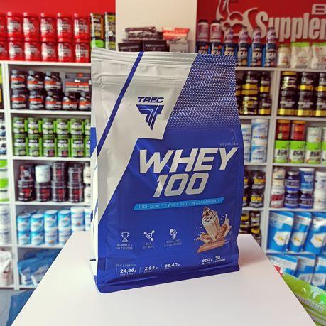 TREC Whey 100 900g Odżywka Białkowa 80%, Białko WPC Odżywki